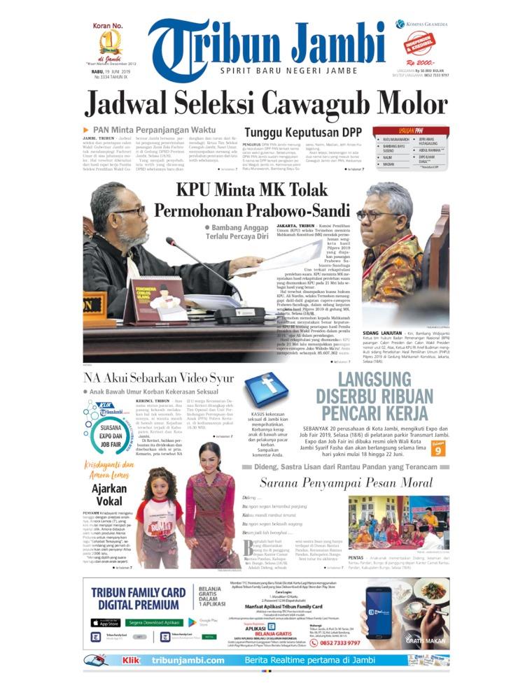 Tribun Jambi Digital Newspaper 19 June 2019