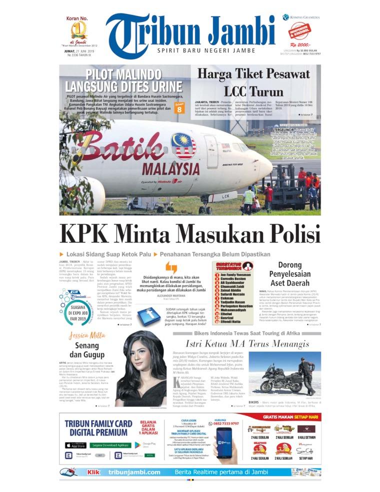 Koran Digital Tribun Jambi 21 Juni 2019