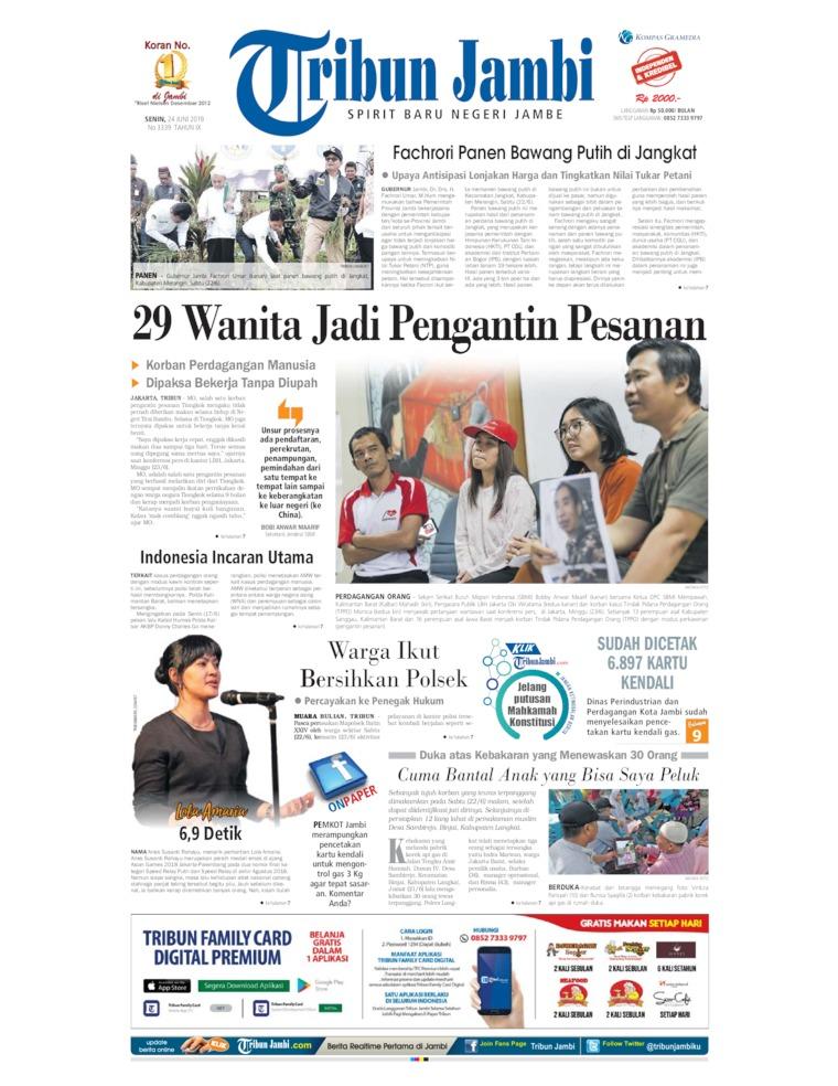 Tribun Jambi Digital Newspaper 24 June 2019