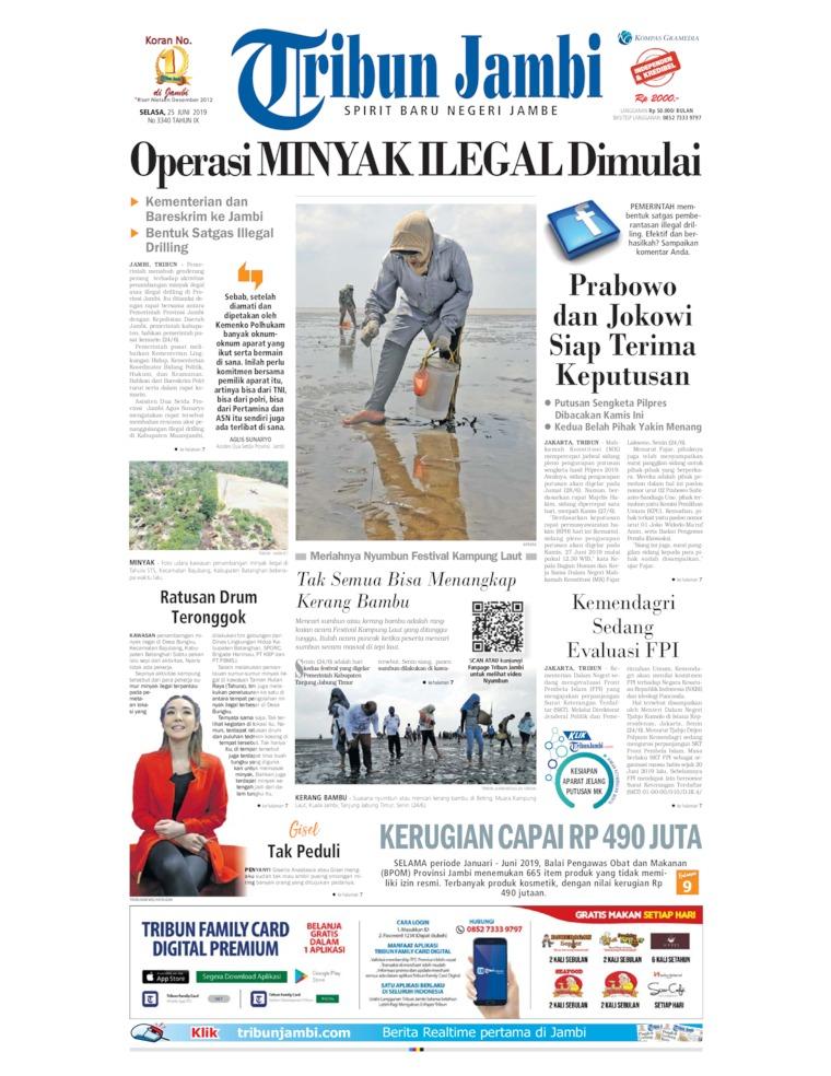 Tribun Jambi Digital Newspaper 25 June 2019