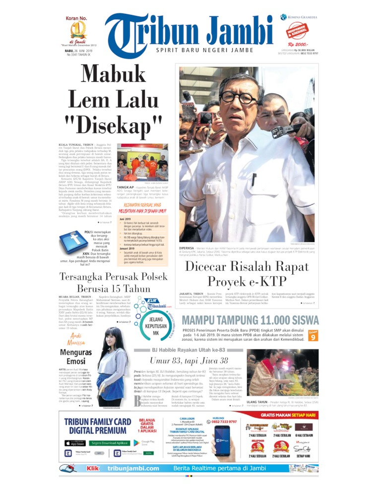 Tribun Jambi Digital Newspaper 26 June 2019