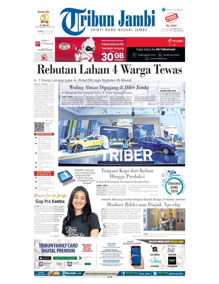 Tribun Jambi Digital Newspaper 18 July 2019