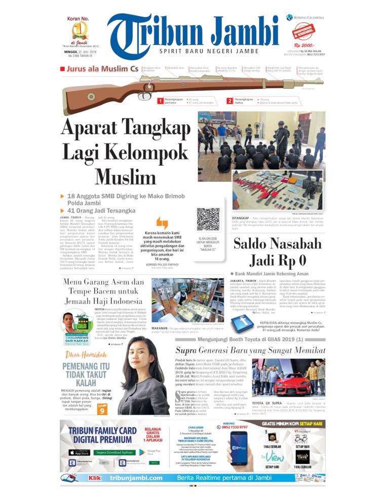 Tribun Jambi Digital Newspaper 21 July 2019