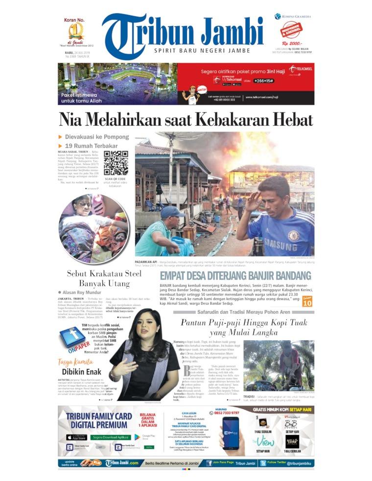 Tribun Jambi Digital Newspaper 24 July 2019