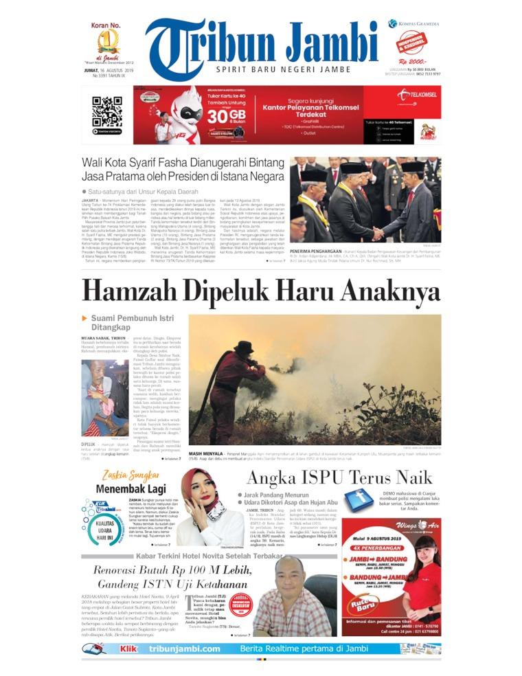 Koran Digital Tribun Jambi 16 Agustus 2019