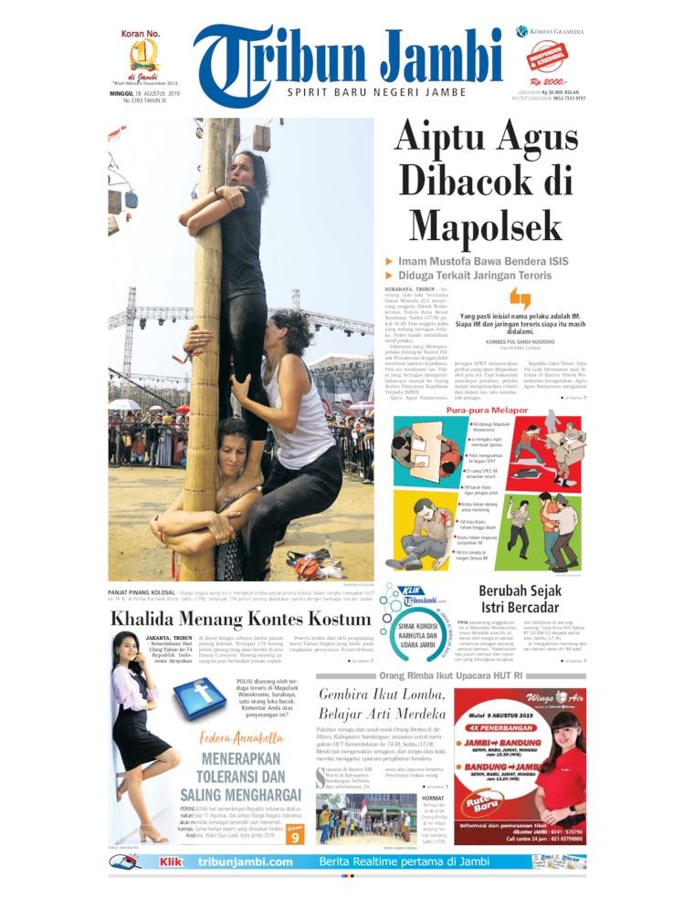 Koran Digital Tribun Jambi 18 Agustus 2019