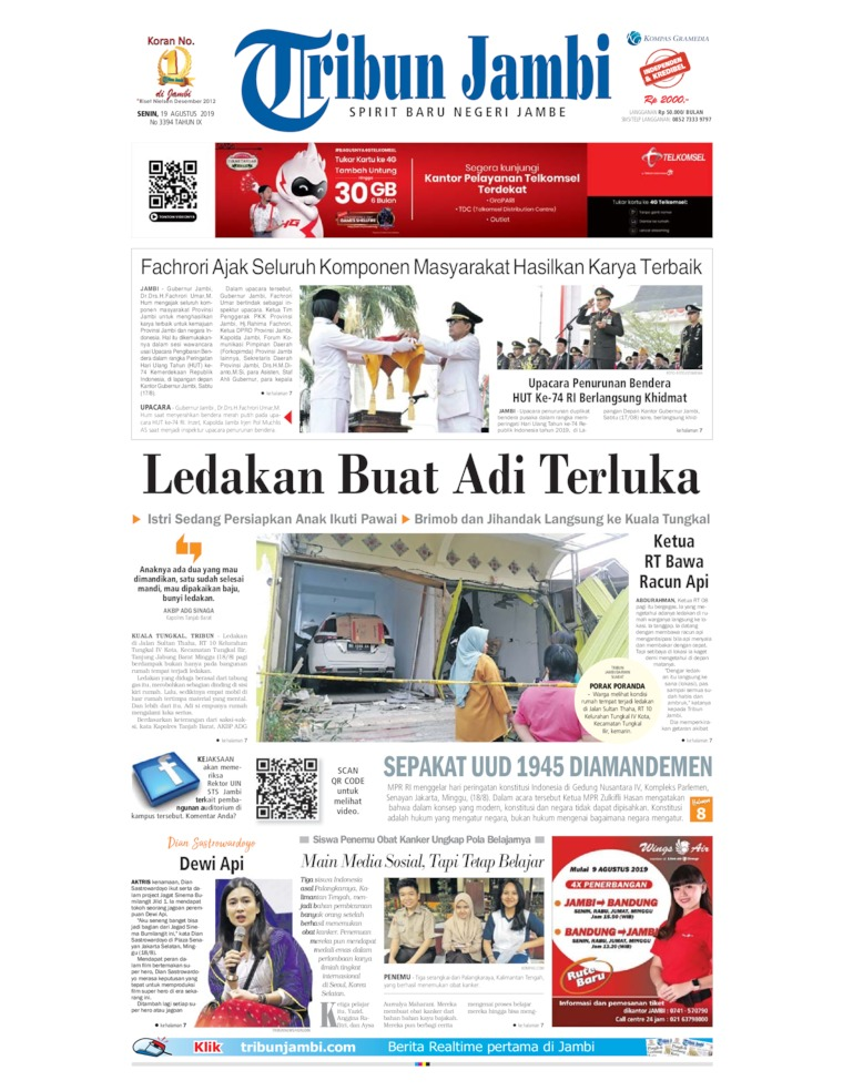 Tribun Jambi Digital Newspaper 19 August 2019