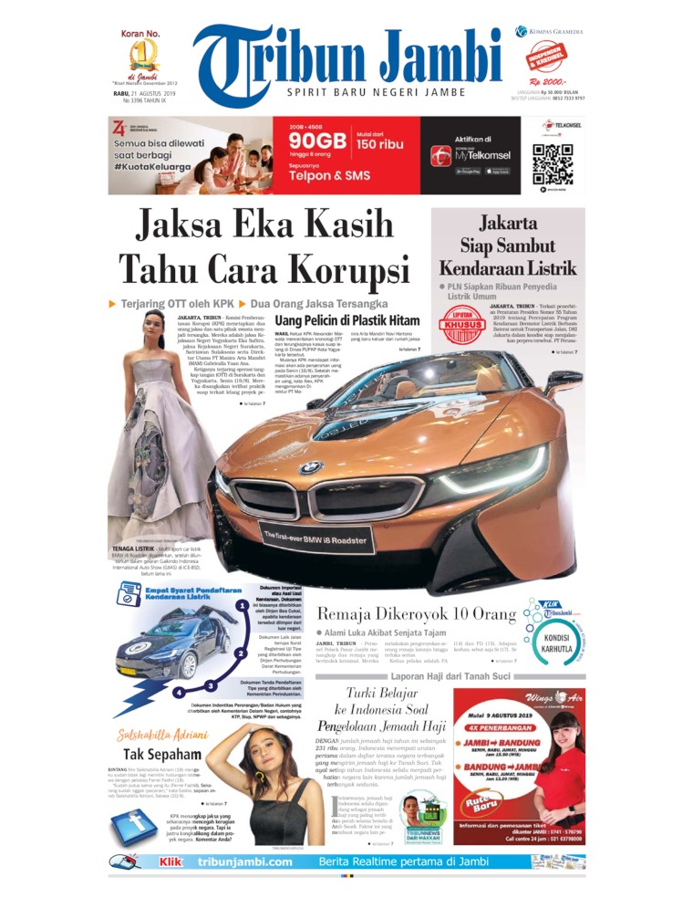 Tribun Jambi Digital Newspaper 21 August 2019