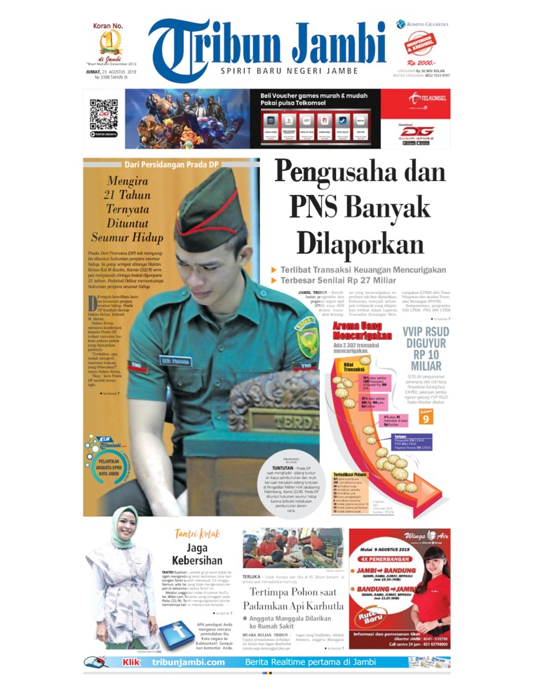 Tribun Jambi Digital Newspaper 23 August 2019