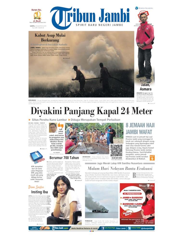Koran Digital Tribun Jambi 24 Agustus 2019