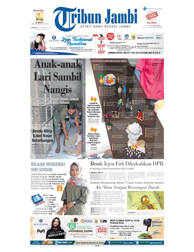 Tribun Jambi Digital Newspaper 15 September 2019