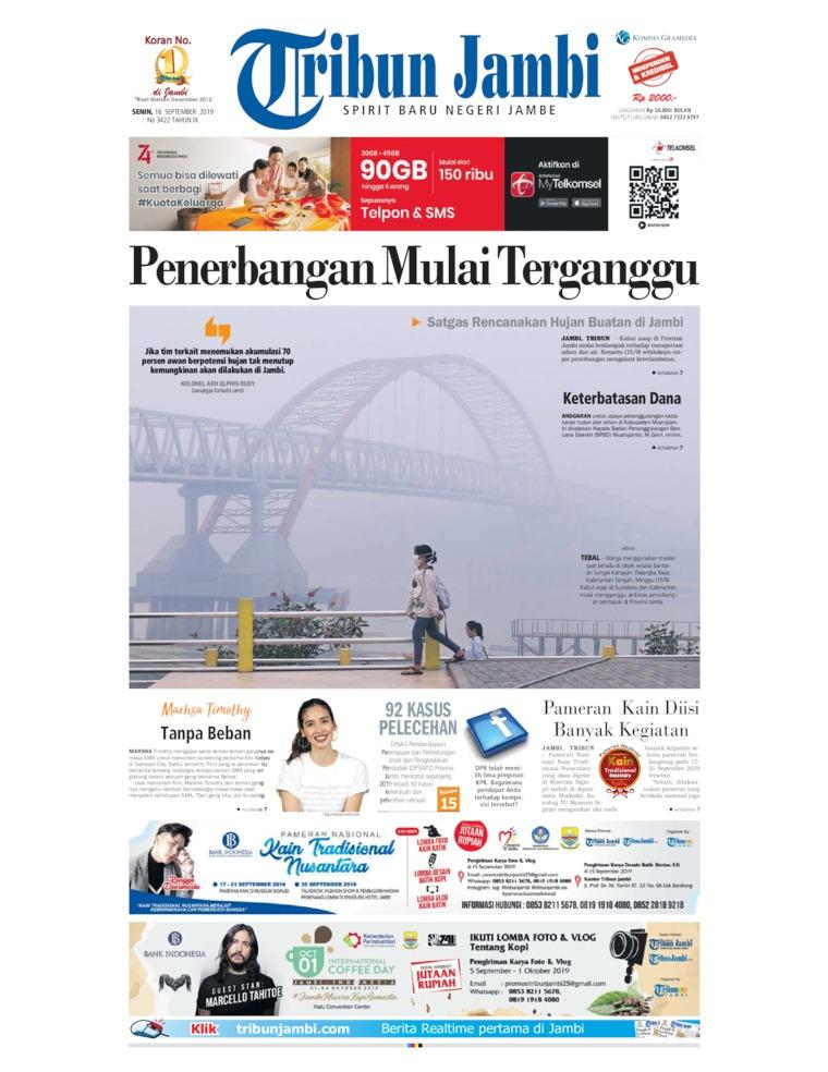 Tribun Jambi Digital Newspaper 16 September 2019