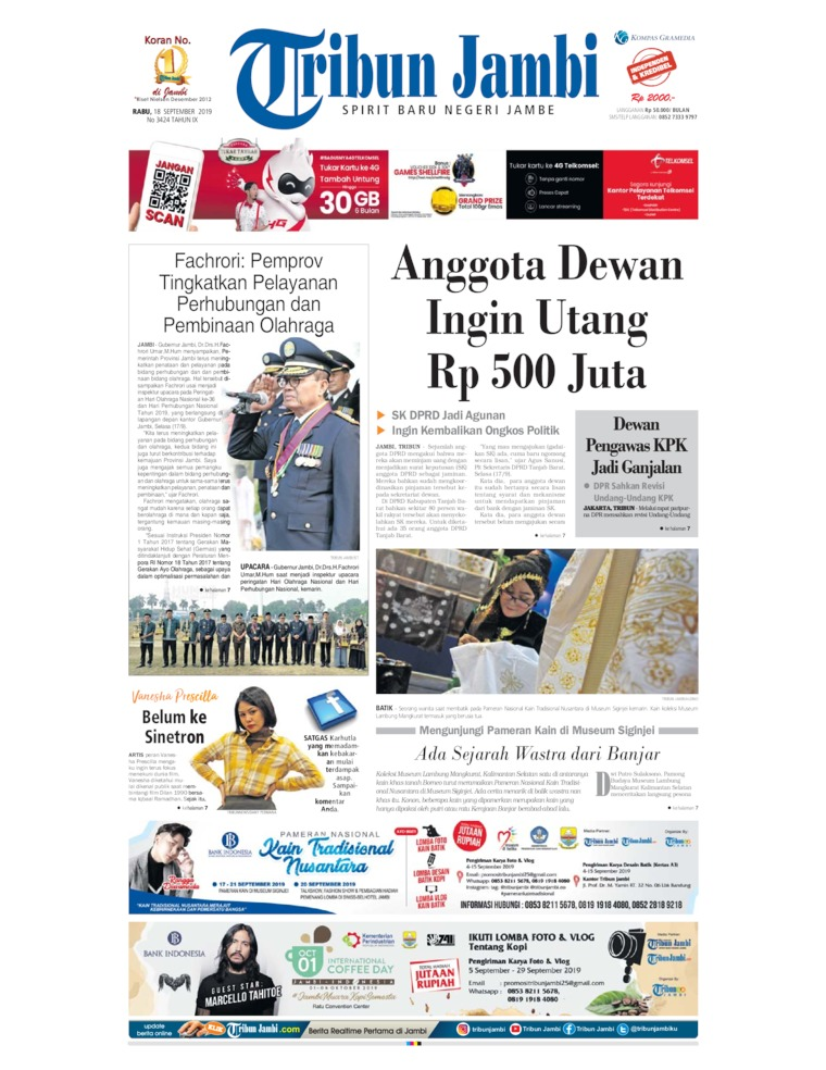 Tribun Jambi Digital Newspaper 18 September 2019