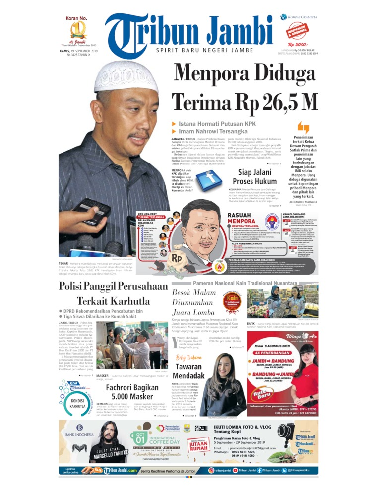 Koran Digital Tribun Jambi 19 September 2019