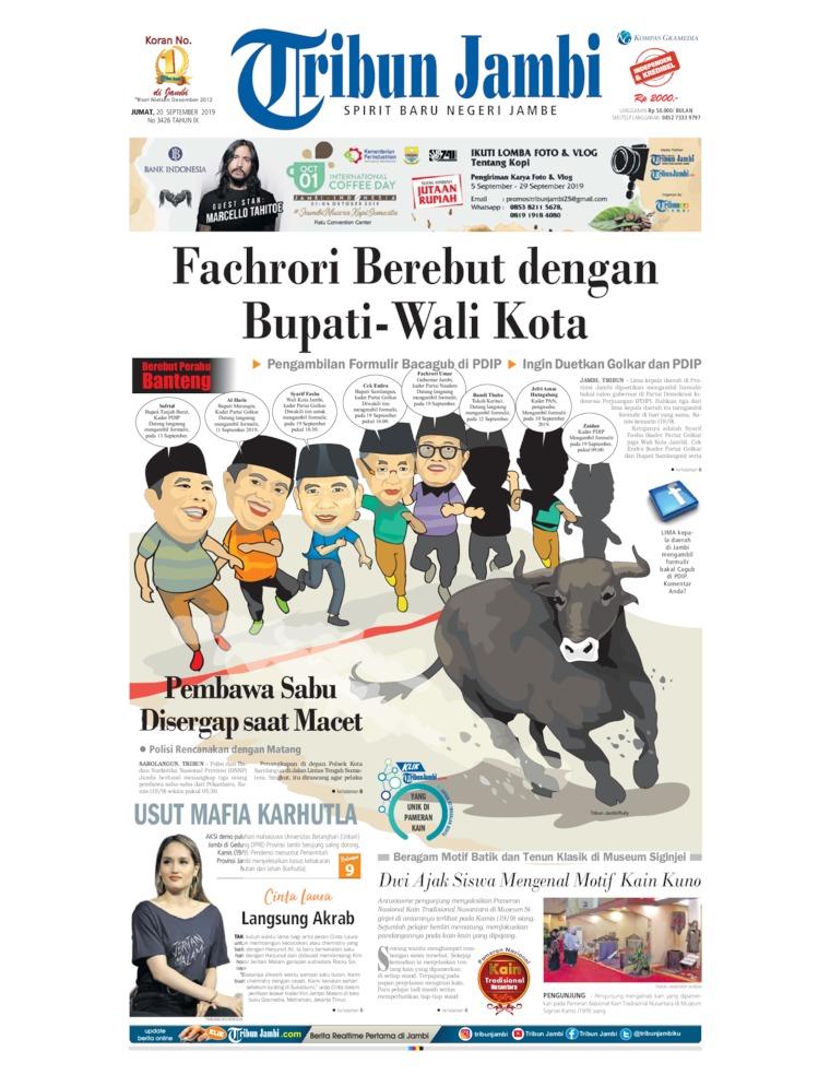 Tribun Jambi Digital Newspaper 20 September 2019