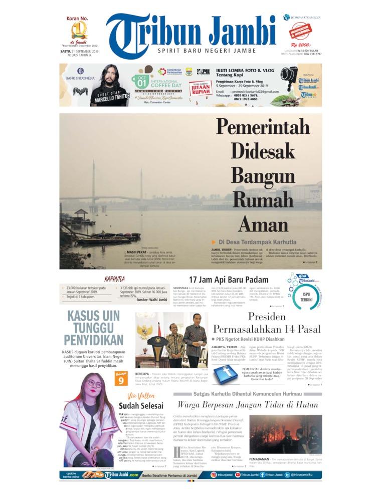Tribun Jambi Digital Newspaper 21 September 2019