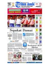 Cover Tribun Jambi 19 Februari 2018