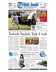 Cover Tribun Jambi 23 Februari 2018