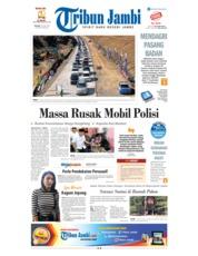 Cover Tribun Jambi 19 Juni 2018