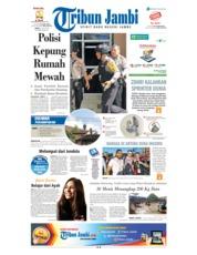 Cover Tribun Jambi 13 Juli 2018