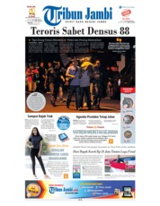 Cover Tribun Jambi 15 Juli 2018
