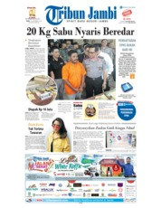 Cover Tribun Jambi 19 September 2018