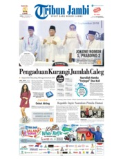Cover Tribun Jambi 22 September 2018