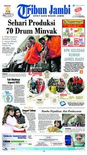 Cover Tribun Jambi 19 Oktober 2018