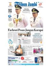 Cover Tribun Jambi 08 November 2018