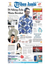 Cover Tribun Jambi 09 November 2018