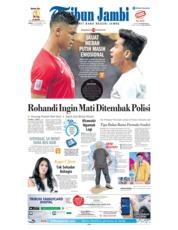 Cover Tribun Jambi 10 November 2018