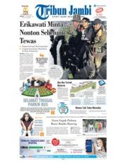 Cover Tribun Jambi 11 November 2018