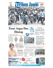 Cover Tribun Jambi 12 November 2018