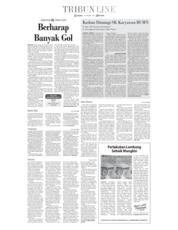 Cover Tribun Jambi 13 November 2018