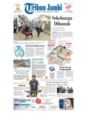 Cover Tribun Jambi 14 November 2018
