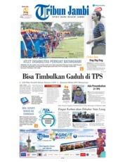 Cover Tribun Jambi 15 November 2018