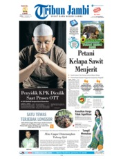 Cover Tribun Jambi 15 Desember 2018