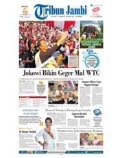Cover Tribun Jambi 17 Desember 2018
