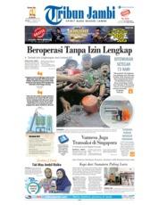 Cover Tribun Jambi 15 Januari 2019