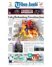 Cover Tribun Jambi 20 Februari 2019