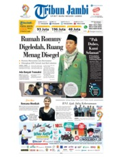 Cover Tribun Jambi 16 Maret 2019