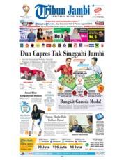 Cover Tribun Jambi 24 Maret 2019