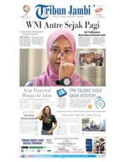 Cover Tribun Jambi 15 April 2019