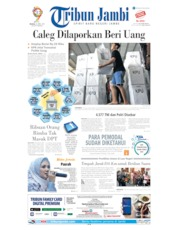 Cover Tribun Jambi 16 April 2019