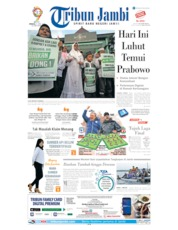 Cover Tribun Jambi 21 April 2019