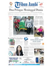 Tribun Jambi Cover 24 April 2019