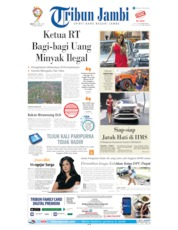 Cover Tribun Jambi 26 April 2019