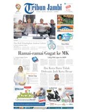 Cover Tribun Jambi 14 Mei 2019