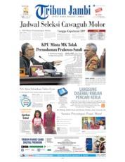Cover Tribun Jambi 19 Juni 2019