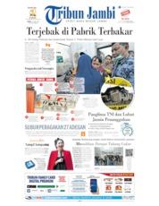 Cover Tribun Jambi 22 Juni 2019